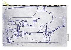 1953 Helicopter Patent Blueprint Carry-all Pouch