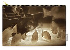 Carry-all Pouch featuring the photograph 1954 Fish At Marineland Florida by Marilyn Hunt