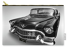 1955 Cadillac Black And White Carry-all Pouch by Gill Billington