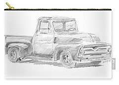 1955 Ford Pickup Sketch Carry-all Pouch