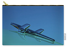Carry-all Pouch featuring the photograph 1956 Chevy Belair Hood Ornament by Jani Freimann