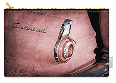 Carry-all Pouch featuring the photograph 1956 Ford Thunderbird Convertible Taillight Emblem -0361ac by Jill Reger