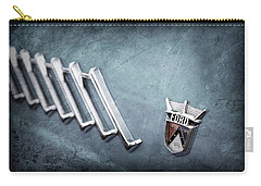 Carry-all Pouch featuring the photograph 1956 Ford Thunderbird Emblem -0052ac by Jill Reger