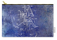 1956 Helicopter Patent Blue Carry-all Pouch by Jon Neidert