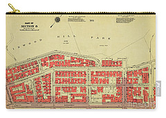 Carry-all Pouch featuring the photograph 1956 Inwood Map  by Cole Thompson