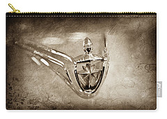 Carry-all Pouch featuring the photograph 1956 Lincoln Premier Convertible Hood Ornament -0832s by Jill Reger