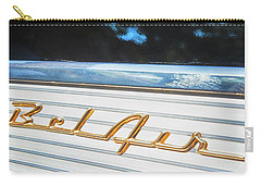 Carry-all Pouch featuring the photograph 1957 Chevrolet Bel Air by Theresa Tahara