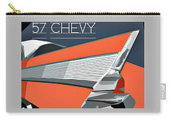 1957 Chevy Art Design By John Foster Dyess Carry-all Pouch