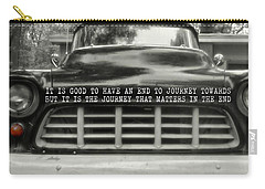 1957 Chevy Quote Carry-all Pouch by JAMART Photography