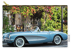 Carry-all Pouch featuring the photograph 1957 Corvette by Brian Jannsen