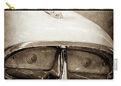 Carry-all Pouch featuring the photograph 1957 Mercury Turnpike Cruiser Emblem -0749s by Jill Reger