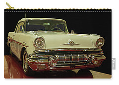 Carry-all Pouch featuring the photograph 1957 Pontiac Star Chief Convertible by Chris Flees