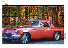 1957 Thunderbird  003 Carry-all Pouch by George Bostian