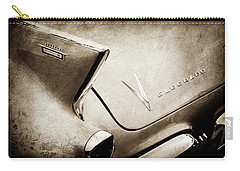 Carry-all Pouch featuring the photograph 1958 Cadillac Eldorado Biarritz Taillight Emblems -0255s by Jill Reger