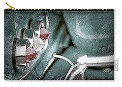 Carry-all Pouch featuring the photograph 1958 Chevrolet Impala Taillight -0544ac by Jill Reger