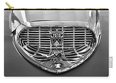 Carry-all Pouch featuring the digital art 1958 Ford Fairlane Sunliner Intake Bw by Chris Flees