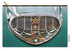 Carry-all Pouch featuring the digital art 1958 Ford Fairlane Sunliner Intake by Chris Flees