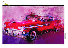 1958 Oldsmobile Hardtop With Continental Kit In Tow Carry-all Pouch