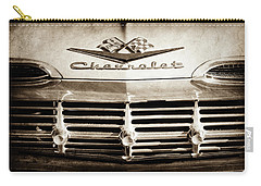 Carry-all Pouch featuring the photograph 1959 Chevrolet Impala Grille Emblem -1014s by Jill Reger