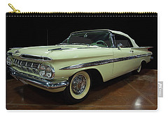 Carry-all Pouch featuring the photograph 1959 Chevy Impala Convertible by Chris Flees