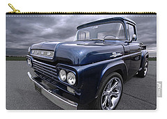 1959 Ford F100 Dark Blue Pickup Carry-all Pouch by Gill Billington