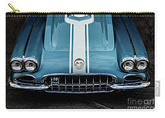 Carry-all Pouch featuring the photograph 1960 Corvette by M G Whittingham