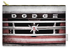 Carry-all Pouch featuring the photograph 1960 Dodge Truck Grille Emblem -0275ac by Jill Reger