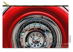 Carry-all Pouch featuring the photograph 1958 Ford Crown Victoria Wheel by M G Whittingham