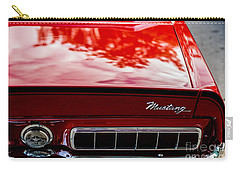 Carry-all Pouch featuring the photograph 1967 Mustang by M G Whittingham
