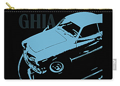 1962 Karmann Ghia Pop Art Blue Carry-all Pouch
