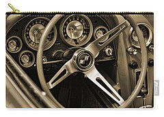 1963 Chevrolet Corvette Steering Wheel - Sepia Carry-all Pouch
