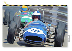 1963 Cooper T66 Coming Out Of Monaco's Mirabeau Carry-all Pouch by Wally Hampton