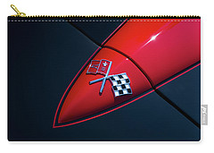 Carry-all Pouch featuring the photograph 1965 Corvette Hood by Joel Witmeyer