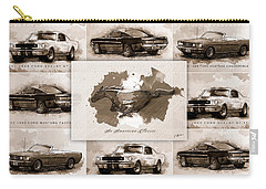 1965 Ford Mustang Collage I Carry-all Pouch