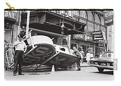 Carry-all Pouch featuring the photograph 1965 Removing Rko Theater Sign Boston by Historic Image