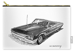 1965 Thunderbird Convertible By Ford Carry-all Pouch by Jack Pumphrey