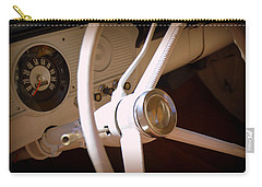 Carry-all Pouch featuring the photograph 1966 Ford F100 Interior by Lisa Wooten