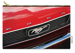 Carry-all Pouch featuring the photograph 1966 Ford Mustang by Gordon Dean II