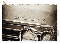 Carry-all Pouch featuring the photograph 1967 Chevrolet Chevelle Ss Super Sport Emblem -0413s by Jill Reger