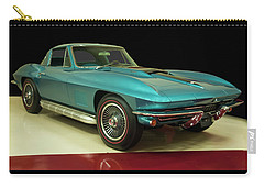 Carry-all Pouch featuring the digital art 1967 Chevrolet Corvette 2 by Chris Flees