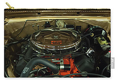 Carry-all Pouch featuring the photograph 1967 Plymouth Belvedere Gtx 426 Hemi Motor by Chris Flees