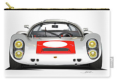 1967 Porsche 910 Illustration Carry-all Pouch by Alain Jamar