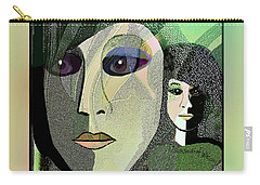 Carry-all Pouch featuring the digital art 1968 - A Dolls Head by Irmgard Schoendorf Welch