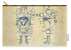 1968 Hard Space Suit Patent Artwork - Vintage Carry-all Pouch by Nikki Marie Smith