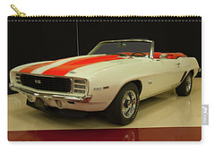 Carry-all Pouch featuring the photograph 1969 Chevy Camaro Rs/ss Indy Pace Car by Chris Flees