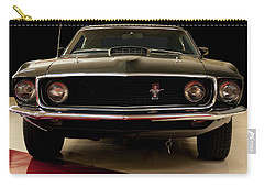 Carry-all Pouch featuring the digital art 1969 Ford Mustang by Chris Flees