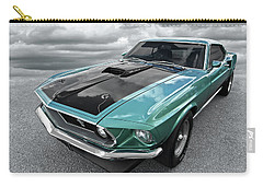 1969 Green 428 Mach 1 Cobra Jet Ford Mustang Carry-all Pouch