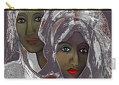 Carry-all Pouch featuring the digital art 1969 -  White Veils by Irmgard Schoendorf Welch