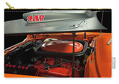 Carry-all Pouch featuring the painting 1969 Plymouth Road Runner A12 440 6 Pack by Chris Flees