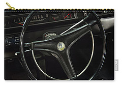 Carry-all Pouch featuring the photograph 1969 Plymouth Road Runner A12 Dash by Chris Flees